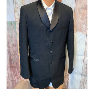 44S Curved Lapel After Six Formal Tuxedo Jacket